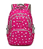 Fanci Students Candy Color School Bag Lovely Dog Paw Prints Large Capacity Backpack