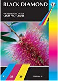 100 Sheets A3 Black Diamond Professional Grade 260 gsm Heavyweight White Gloss Photo Paper