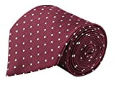 #8: Modo Formal Ties For Men, Geometric Maroon Tie