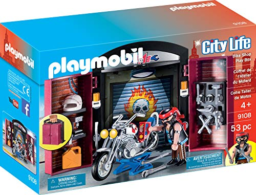 Playmobil 9108 Ciudad Vida Bike Shop Play Box