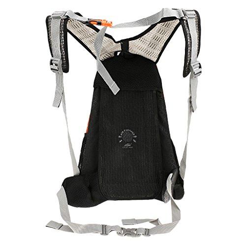 Outdoor Backpack für Radfahren, Wanderrucksack, Schultertasche mit Regenschutz Abdeckung Orange