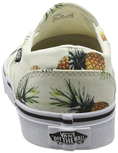 Vans Asher - Scarpe da Ginnastica Basse Donna Bianco (Pineapple off white)