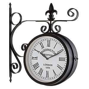 Blumfeldt Paddington Vintage Steel Garden Wall Clock