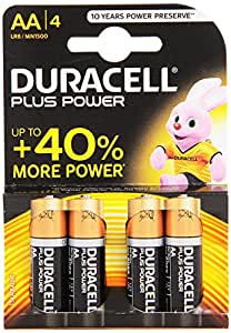 Plus Alkaline AA Size Battery Pack Of 4