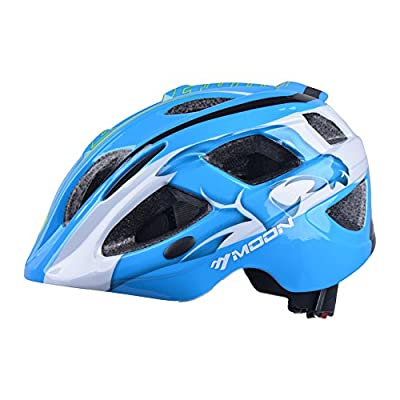 Moon HB3-5 Boys' Kids Helmet - Blue, Medium (53-56 cm) by Moon