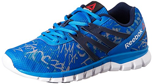Reebok Men's Sublite Xt Cushion Grftmt Blue, Dark Blue, Grey and White Running Shoes – 11 UK 51XAsnMlGCL