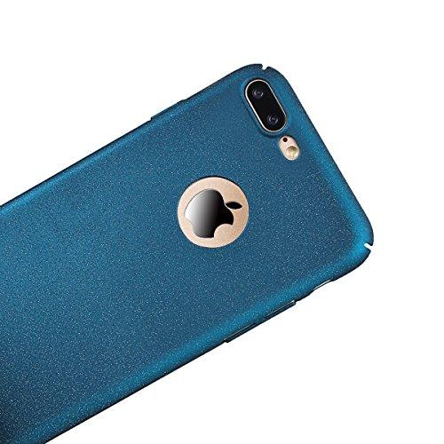 """Coque iPhone 7, Housse iPhone 7 Bleu, GrandEver Ultra Mince couleur PC Back Panel Texture Sable Rocheux Étui arrière Flexible Plastique Anti-Rayures Case pour Apple iPhone 7 (4.7"""") Bleu"""