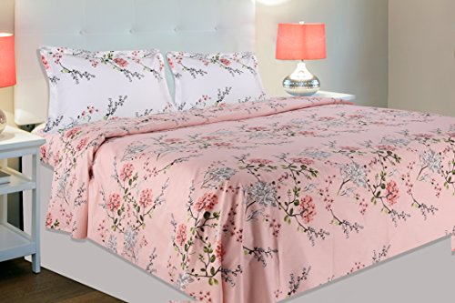 Haus & Kinder Victorian Summer Dream, 100% Cotton Bedsheet Double Size, 186 Thread Count, Double Bedsheet with 2 Pillow Covers...