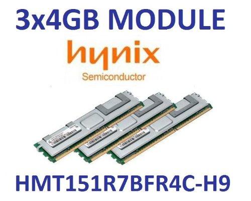 3x 4GB = 12GB HYNIX DDR31333mhz PC3-10600R, ecc registered, 256MX4, Dual Rank, 240pin DIMM, CL9, Part # HMT151R7BFR4C DSC-H9
