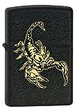 Zippo 16927 Scorpion Gold - Crackle Sturmfeuerzeug, Chrom, schwarz, 5.8 x 3.8 x 1.8 cm