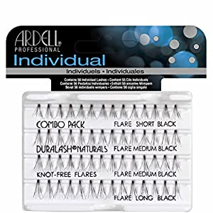 "Ardell Individuals Duralash Naturals Knot Free Flares Combo Black ""Contain 56 Individual Lashes"""