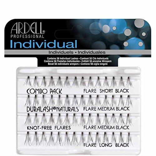 Ardell - Faux cils individuels Duralash noirs sans paquets - Contient 56 cils individuels