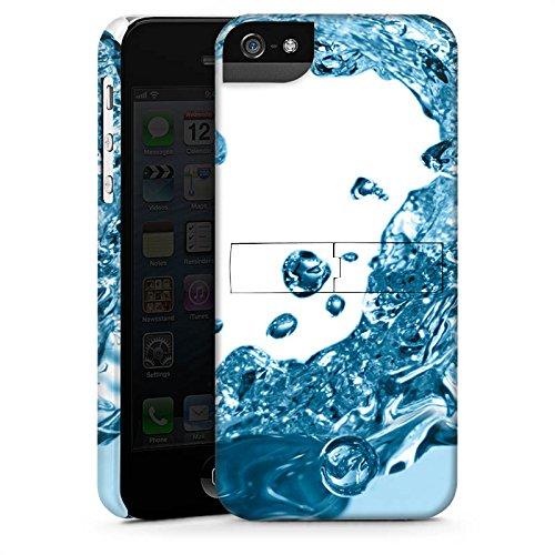 Apple iPhone X Silikon Hülle Case Schutzhülle Wasser Tropfen Welle Premium Case StandUp
