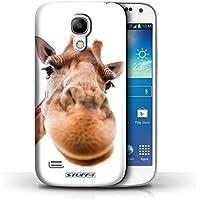 Gedruckt Schutzkoffer Schutzhüllen / Hülle für Samsung Galaxy S4 Mini / Neugierige Giraffe Muster / Lustige Tiere Kollektion