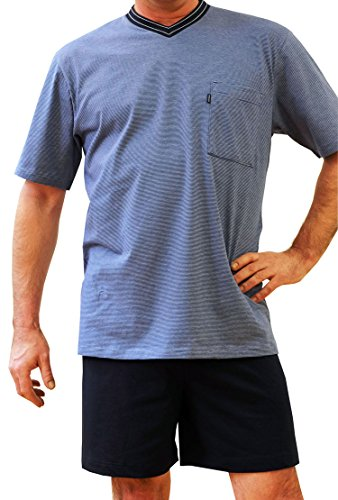 Ammann Herren Schlafanzug kurz 7429 Dunkelblau