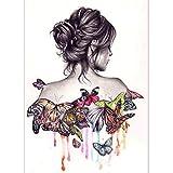 broadroot Schmetterling Beauty Girl 5D Diamant DIY Malerei Craft Kit