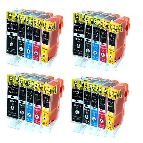 Canon A 520 - 4 Packs = 20 Cartouches Encre avec