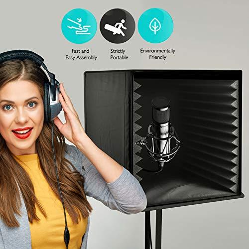 Pyle PSIB27Sound recording Booth box, studio Soundproofing Foam Shield isolamento filtro Cube