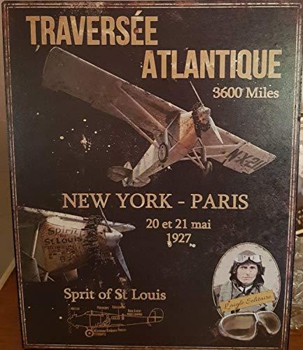 plaque «traversée de l'atlantique » 28*36 cm