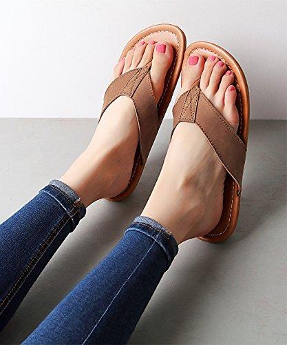 CHAOXIANG Pantofole Piatte Flip Flop Antiscivolo Sandali Da Surf Nuovo Calzature Da Spiaggia Estiva ( Colore : A , dimensioni : EU36/UK4-4.5/CN37 ) A