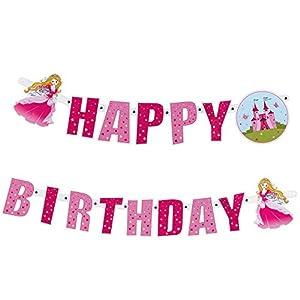 Susy Card 11450236 - Guirnalda de Feliz cumpleaños diseño Princesa, 2 m, 1 Unidad