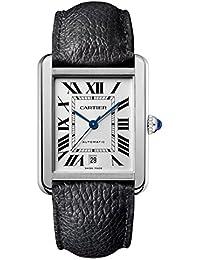 Cartier Reloj de hombre automático correa de cuero caja de acero WSTA0029