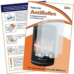 2 x mumbi Displayschutzfolie Sony Ericsson Live mit Walkman Displayschutz AntiReflex antireflektierend