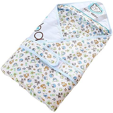 Swaddle Wrap manta bolsa de dormir para recién nacido bebé infante otoño invierno tenencia edredón puro algodón no estímulo espesamiento a prueba de viento cálido anti-kick cover manta
