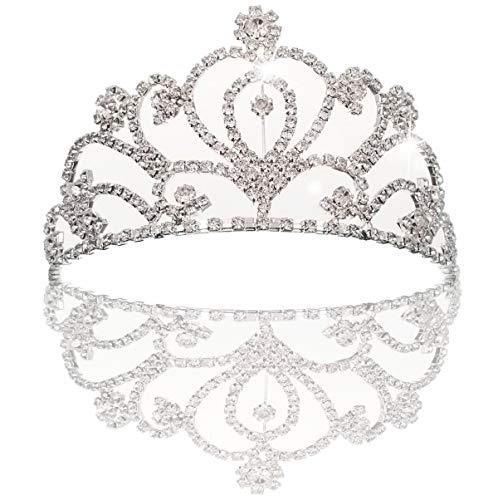 JZK Kristall Prinzessin Krone Rhinestone Königin Diadem für Kinder und Erwachsene, Metall Haarschmuck Stirnband Strass Tiara für Hochzeit Geburtstag Party Prom Braut Brautjungfern, ()