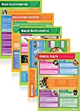 Set of 5 Health, Fitness and Well Being Posters | PE Educational Wall Chart/Poster In High Gloss Paper (A1 850Mm X 594Mm)