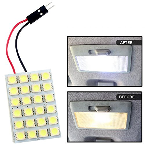 gct white 24 smd led car panel interior roof light / dome reading lamp / festoon for cars GCT WHITE 24 SMD LED Car Panel interior Roof Light / Dome Reading Lamp / Festoon for Cars 51XB 2BNdiJ8L