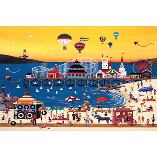 Holzpuzzle, Reiche Farben Illustrationen, Linde Perfekte Cut & Fit, Erwachsene & Kinder Boxed PhotographyToys Spiel Kunst Malerei 0102 (Color : L, Size : 1500pc) -