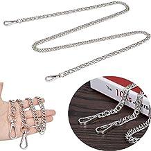JAKAGO - Correa de cadena de 10 mm con hebillas de repuesto para bolso de mano