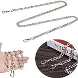 JAKAGO - Correa de cadena de 10 mm con hebillas de repuesto para bolso de mano 10 mm plata