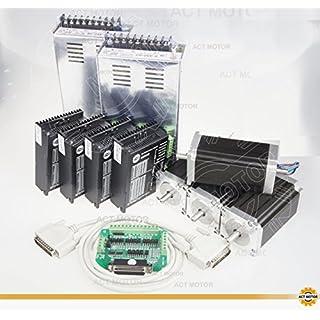 ACT Motor GmbH 4Axis Nema23 CNC Kit 23HS2442B Dual Shaft 4.2A 112mm 425oz-in