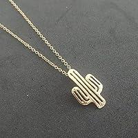 Selia minimalistische Kaktus Halskette Desert Mexican Style Kette gold Schmuck Damen Modeschmuck handgemacht Geschenk
