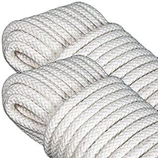 GF Home Braided Rope for Hanging Clothes - Cotton - 20 Metres - 8 mm - Set of 2