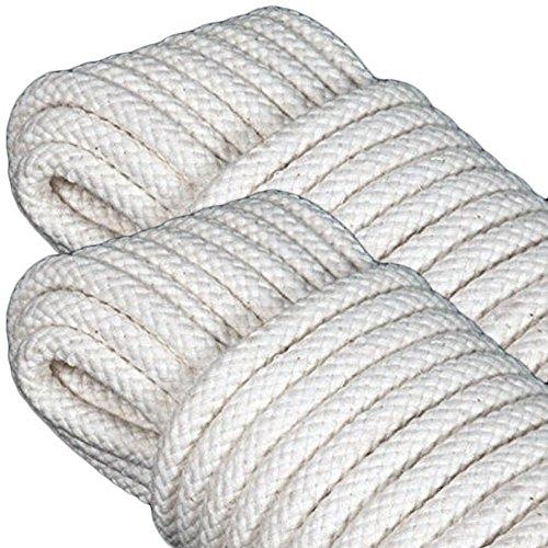 GF Home Geflochtene Schnur für Linomatic - Baumwolle - 20 Meter - 8 mm - Set von 2