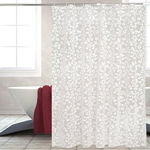 Rideaux de douche Rideau de douche PEVA salle de bains toilettes rideau étanche Durable ( taille : 180X180CM )
