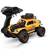 Tletiy Grande voiture radio télécommandée haute vitesse SUV Beetle Quatre roues motrices 2.4GHz Voiture d'escalade Off-Road Rechargeable Rapide Voiture de course Électrique Voiture RC pour adultes Gar