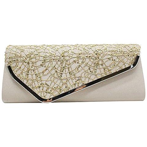 Wocharm New Women Sequins Dazzling Glitter Hard Case Clutch Bag Ladies Handbags Evening Party Envelope Bag