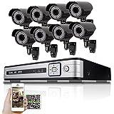 SW 8CH NVR réseau IP caméra de Sécurité Système PoE-8x HD 1080P 2.0Mpx 1080p 2,8~ 12mm lentille de zoom manuel 164m IR PoE IP Caméra de vidéosurveillance + Disque dur 3To-Support ONVIF P2P et facile installer -