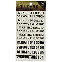 SPESTYLE body art design tattoo tickers 26 english letters with different Typeface temporary tattoos stickers