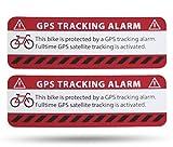 GPS Alarm Aufkleber Fahrrad - 2 Stück Warnaufkleber - Premium