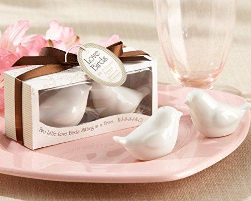NiceButyLiebesvögel Keramik Salz- und Pfefferstreuer Personalisierte Geschenk für Hochzeit Weiß-1 Stück