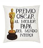 Cuscino 40x40 Scritta Premio Oscar miglio Papa' Idea Regalo Festa Compleanno