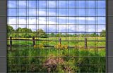 M-tec technology Zaunposter mit Motiv Weidenzaun | PVC | 9 Streifen | inkl. 18 Klemmschienen | Sie kaufen direkt beim Hersteller