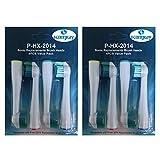 Kongkay Lote de 8 cabezales de recambio para cepillo de dientes, genérico compatible con Philips HX2014 Sonicare Sensiflex. (2Pack X 4Pcs)
