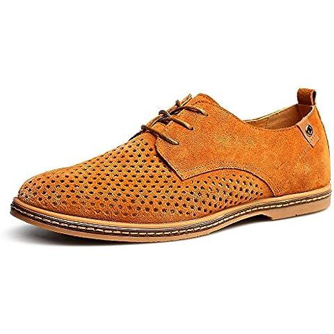 Zapatos ocasionales de verano/Corte transpirable zapatos/Cuero del ante de inglés