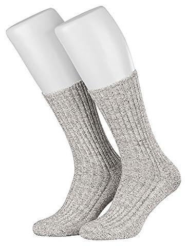Piarini® kuschelige Norweger-Socken Diabetiker geeignet OHNE GUMMI, venenfreundlich 6er Pack grau 47-50